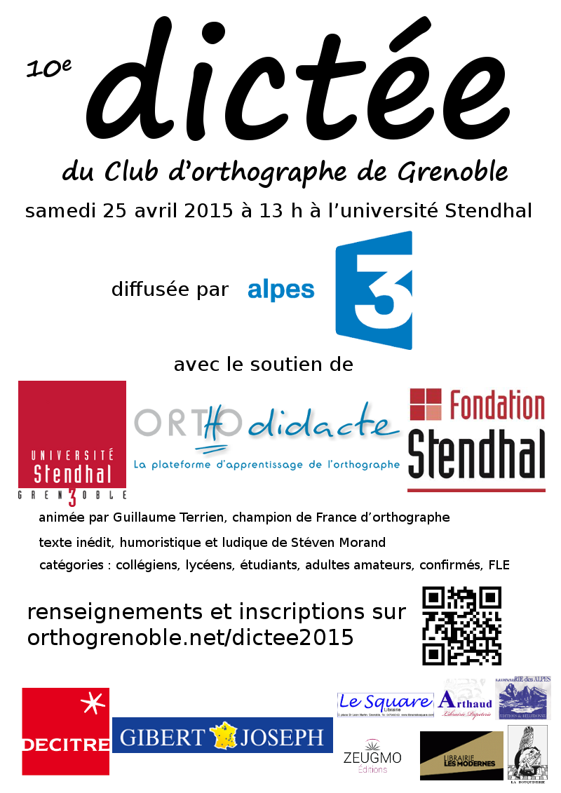 affiche dictee 2015