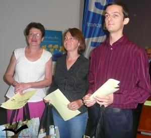 Colette Martin, Claire Comte, Alexandre Faury